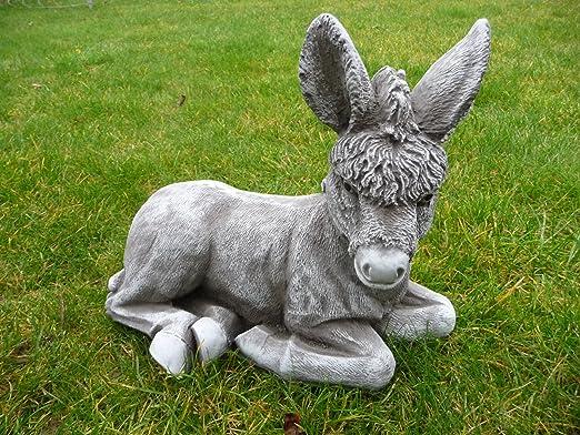 piedra Figura Burro Animales figuras Jardín Decoración Jardín figuras figuras de piedra de piedra: Amazon.es: Jardín