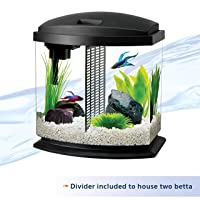 Aqueon 2.5 Gallon BettaBow LED Desktop Fish Aquarium Kit