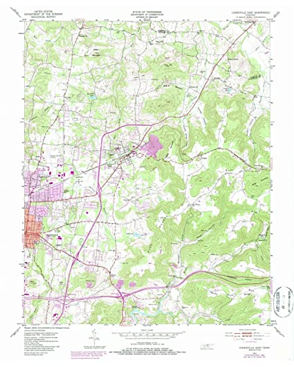 Amazon.com: Tennessee Maps |1953 Cookeville East, TN USGS Historical ...