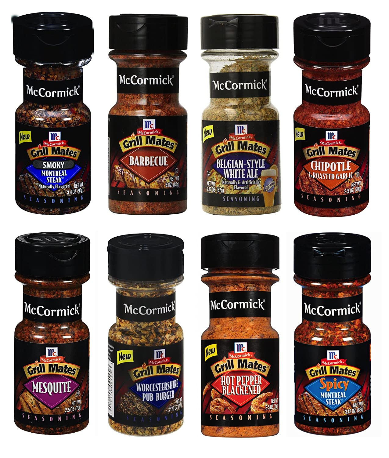Assorted McCormick Grill Mates Bottle Blend Seasonings Variety Pack, 8