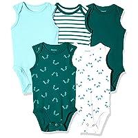 Ultimate Baby Flexy 5 Pack Sleeveless Bodysuits (Tanks)
