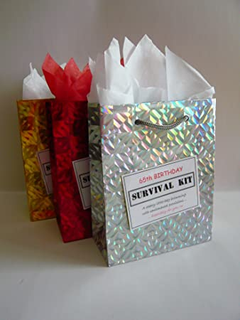 65th Birthday Survival Kit For Male Fun Gift Idea Novelty Present