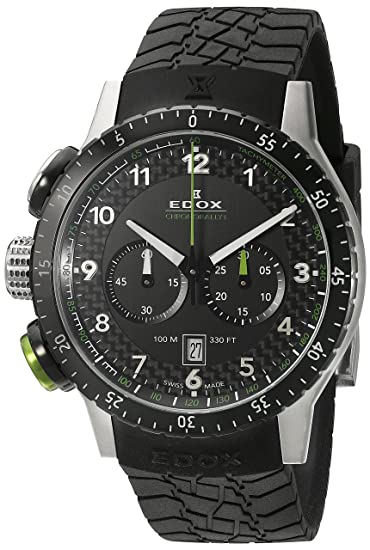 EDOX EDOX RALLY INSTRUMENTS CHRONORALLY 1 - Reloj de cuarzo unisex, correa de goma color negro: Edox: Amazon.es: Relojes