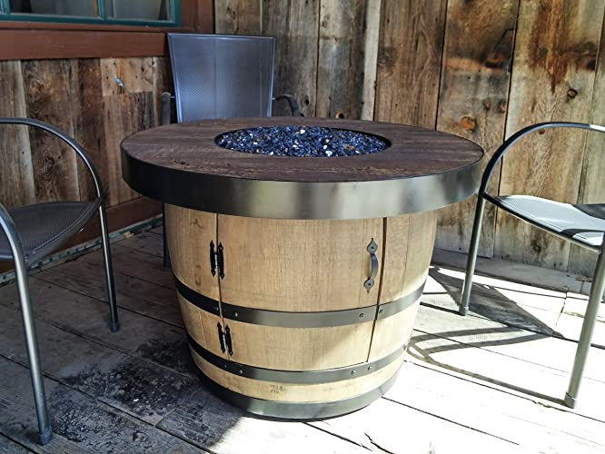 Image Unavailable - Amazon.com: Wine Barrel Fire Pit - CEMENT