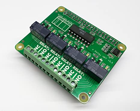 Raspberry Pi - 4 channel relay HAT
