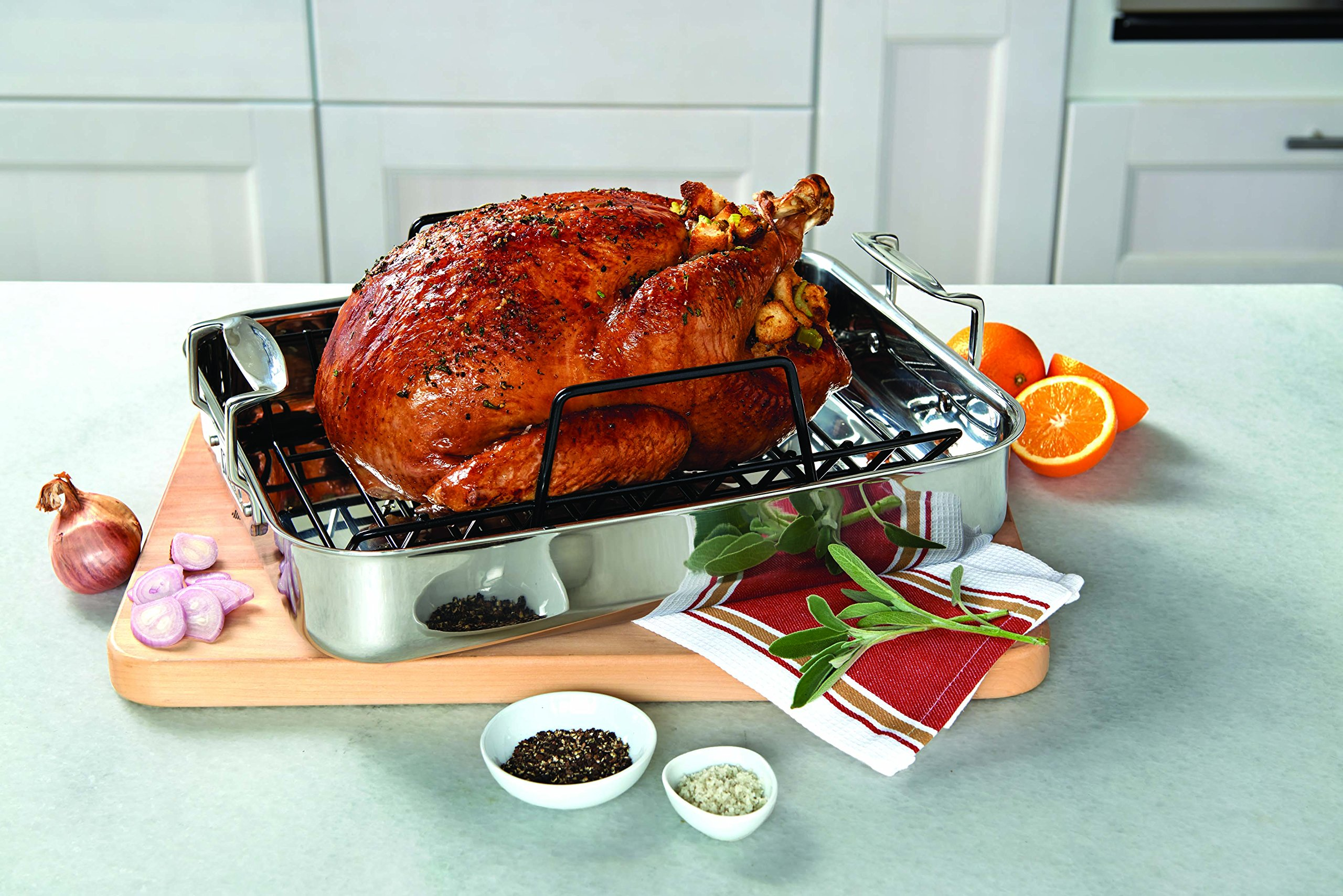 Viking 3-Ply Stainless Steel Roasting Pan with Nonstick Rack, 16 Inch by 13 Inch by Viking Culinary (Image #4)