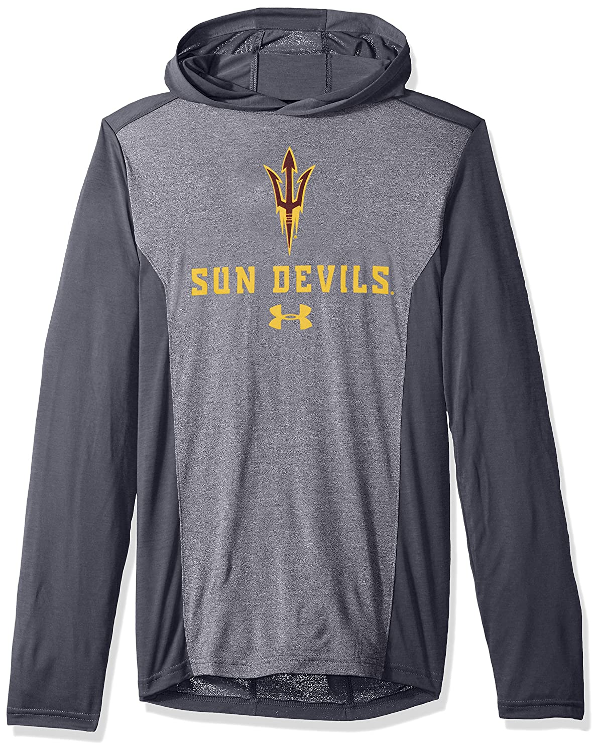 Under Armour NCAA Arizona State Sun Devils Mens NCAA Mens Triblend Hooded Long Sleeve Tee Large Rhino Gray