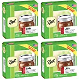 (48-Pack) - Ball Regular Mouth Size Canning or Mason Jar Lids, 4 Dozen or 48 lids Total