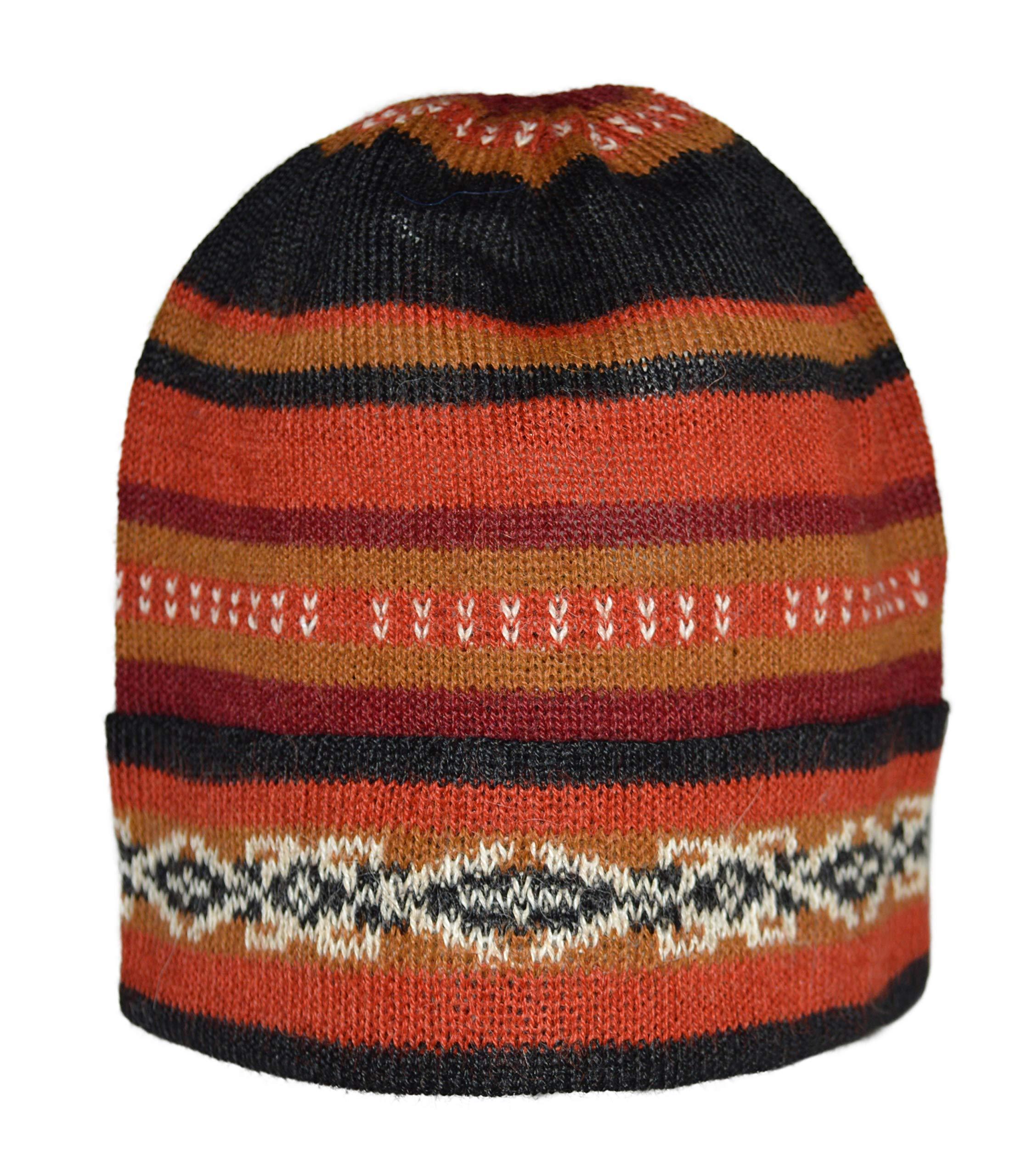 Invisible World Women's 100% Alpaca Wool Hat Knit Unisex Beanie Winter Potosi Medium