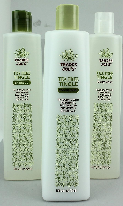 Trader Joe's Tea Tree Tingle Shampoo, Conditioner, and Body Wash Set