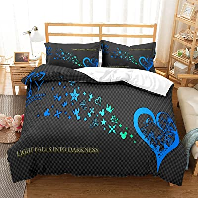 Lisabridal Duvet Cover Kingdom Hearts for Kids Ultra Soft Microfiber 3 Piece Kids Bedding Set Including 1 Duvet Cover,2 Pillowcases,Queen/Twin/Full/King, No Comforter: Kitchen & Dining
