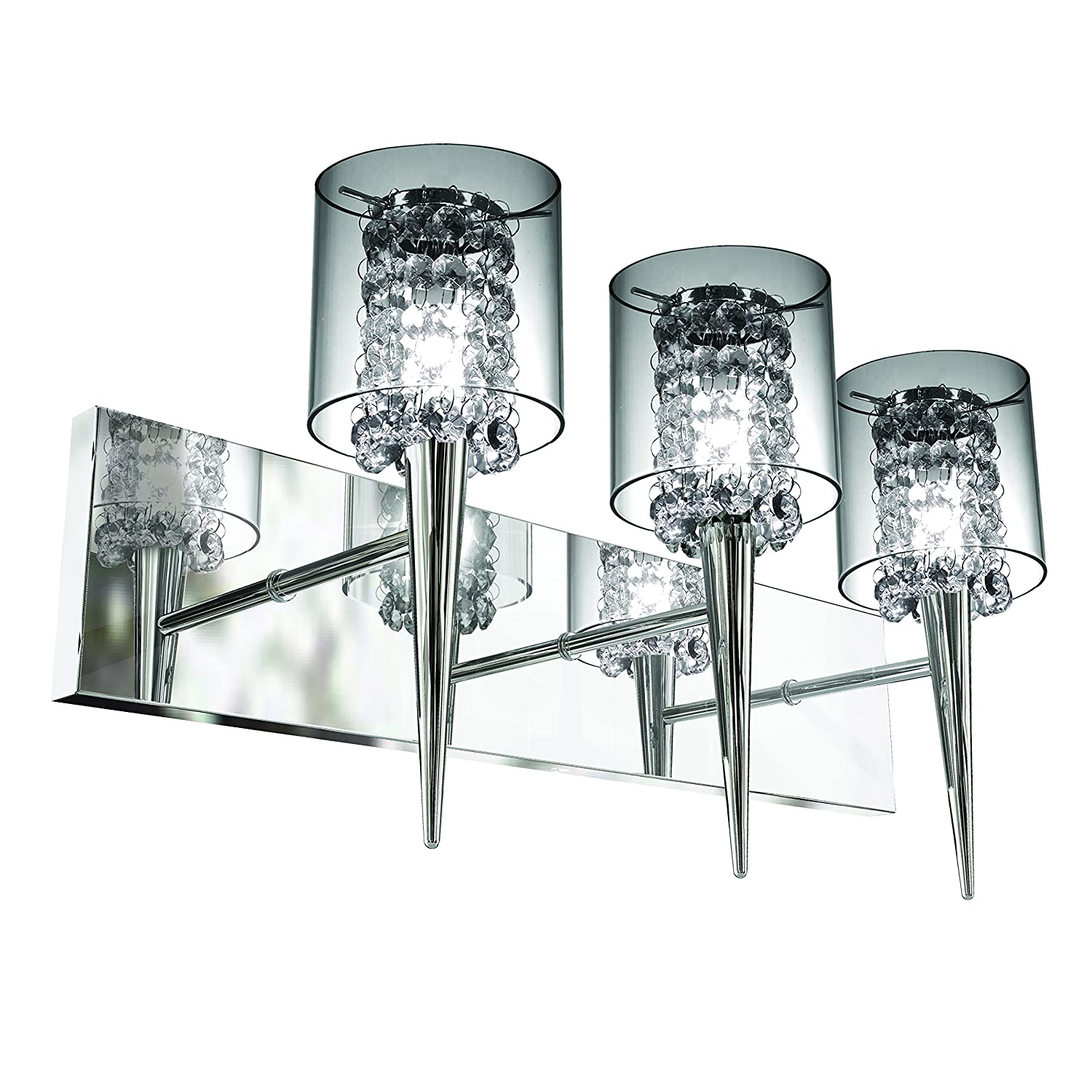 Easy Installation Bazz Elegant Glass Shade Triple Wall Fixture Direct Wiring Dimmable