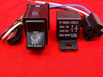 Jeep TJ Rocker Switch-ROCK lights Logo With 40 AMP Relay