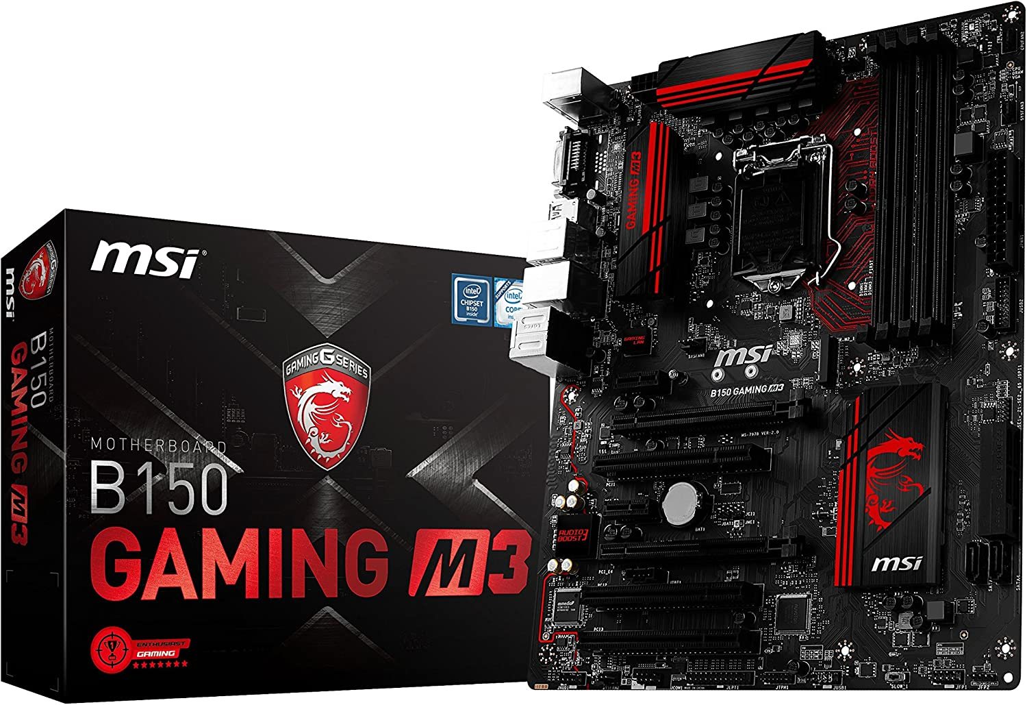 MSI Gaming Intel Skylake B150 LGA 1151 DDR4 USB 3.1 ATX Motherboard (B150 Gaming M3)