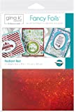 "Gina K. Designs Fancy Foil 6"" x 8"" Sheets 12 sheets per pack (Radiant Red)"