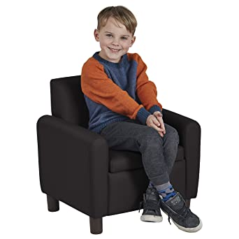 ECR4Kids SoftZone Hideaway Chair For Kids Play Time, Upholstered With  Storage Compartment, Black
