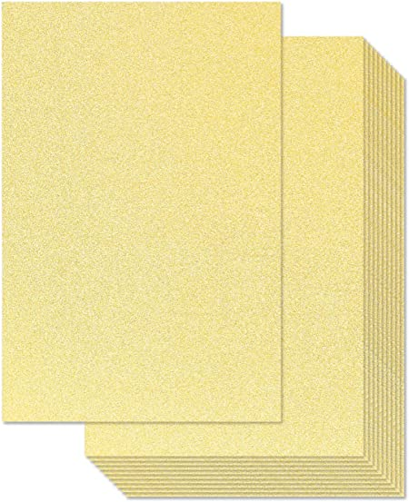 8 x 11 in, 30 Pack Glitter Cardstock Paper for DIY Crafts