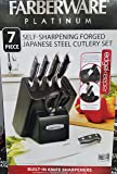 Farberware Platinum Self-Sharpening Forged Japanese Steel Cutlery 7 Piece Set