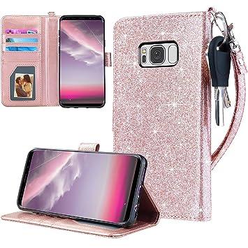 Dailylux Funda Galaxy S8, Carcasa para Samsung Galaxy S8 5.8 Pulgada Billetera Slim Folio Cartera movil Case Cover Cuero Flip Leather Wallet Magnético ...