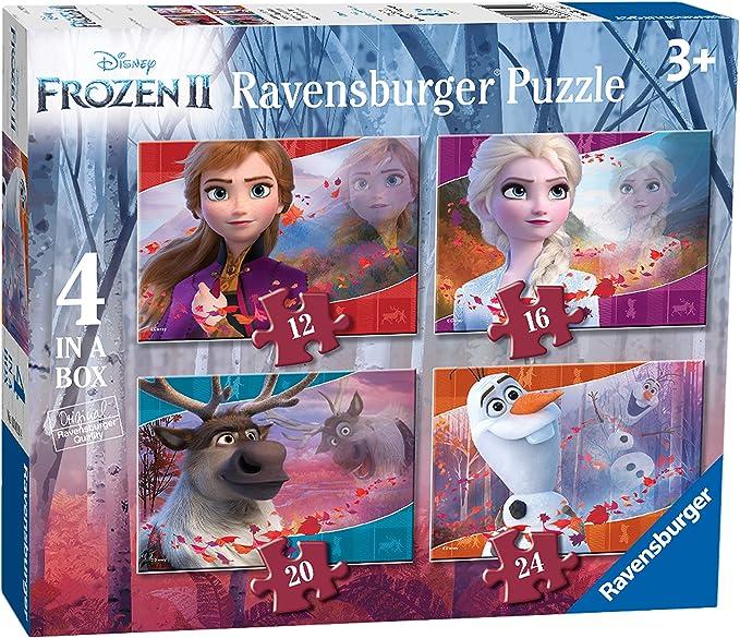 Ravensburger Frozen 2 - 4 puzzle en una caja, 12-16-20-24 piezas ...