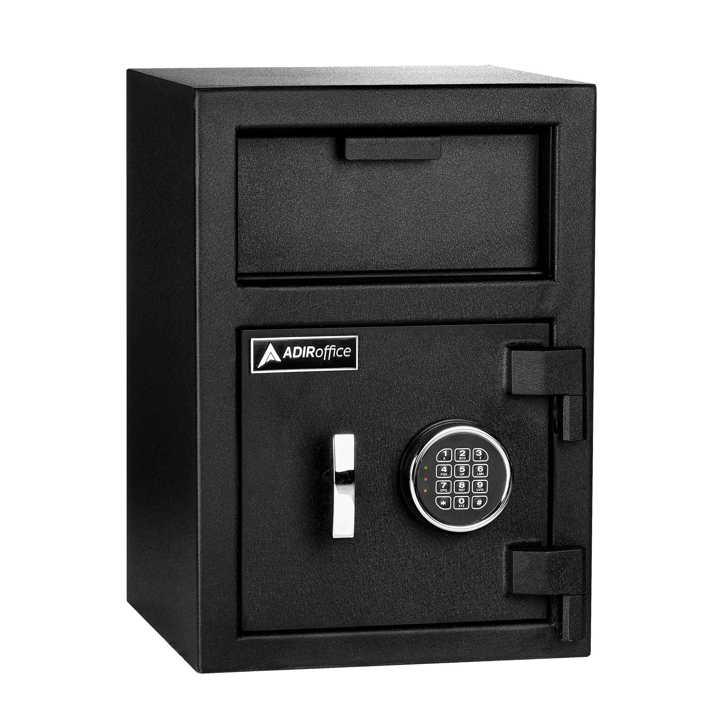 AdirOffice Keypad Lock Drop Box Safe - Industrial Strength Security Storage with Digital Lock - Safety for Home & Business Use (Medium) by AdirOffice