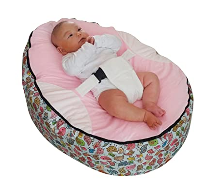 Pleasing Pre Filled Children Baby Bean Bag With Adjustable Safety Harness 2 Removable Covers Machost Co Dining Chair Design Ideas Machostcouk