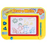 Magna Doodle Magnetic Sketching Board 4 Color Zones Erasable Drawing Writing Pad Back to School Stationery Educational Toy for Children, Toddlers, Babies - Includes a Stylus Pen and 2 Stamps