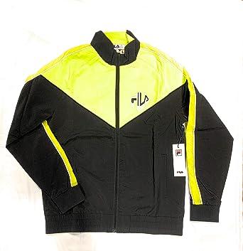 33560c4418 Image Unavailable. Image not available for. Color: Fila Men's Malcom Track  Suit Jacket Black/Sulphur Size Xtra Large ...