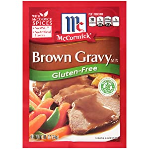 McCormick Gluten Free Brown Gravy Mix, 0.88 oz (Pack of 12)