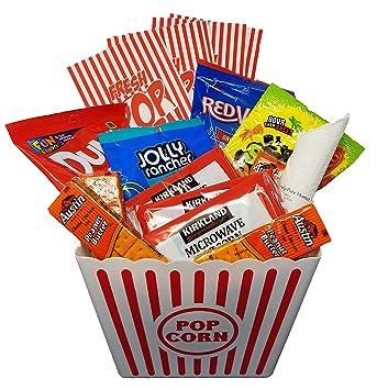 Amazoncom Movie Night Snack Basket With Popcorn Jolly Rancher