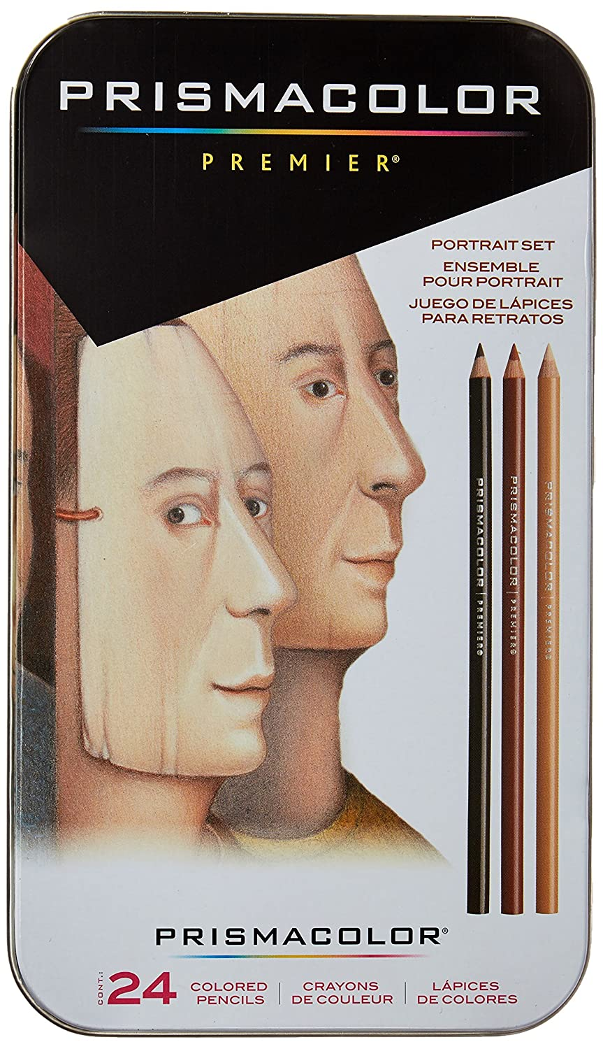 Sanford 25085R Prismacolor Premier Colored Pencils, Portrait Set, Soft Core, 24-Count