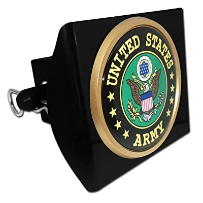 United States Army Eagle Black Plastic Hitch Cover: Automotive
