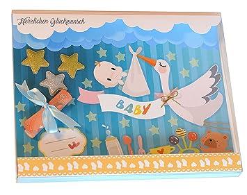 Handarbeit Geldgeschenk Verpackung Baby Transparent Schachtel Mit