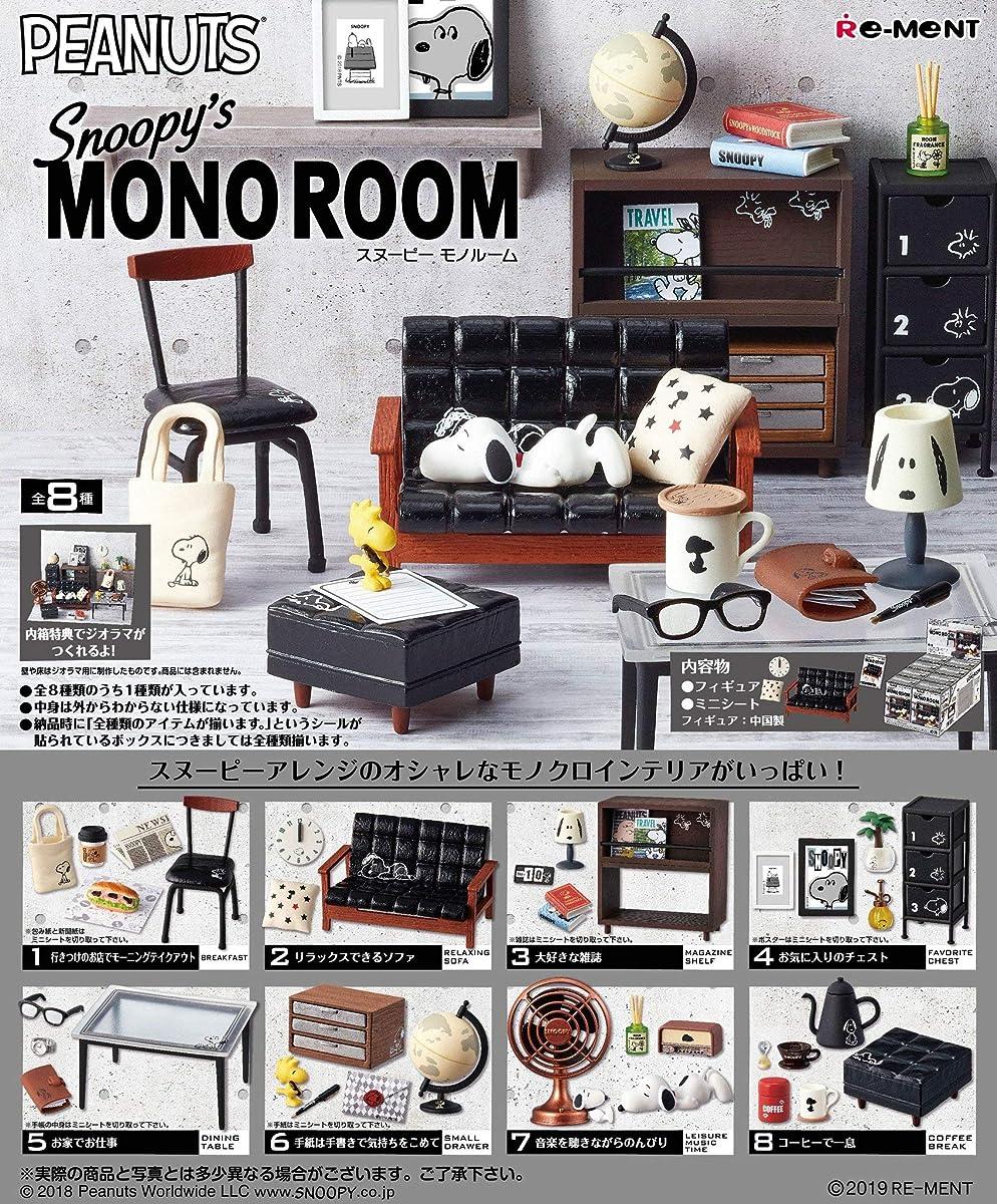 Re-ment Peanuts Snoopy MONO ROOM Miniature Figures Full set 8 packs Complete