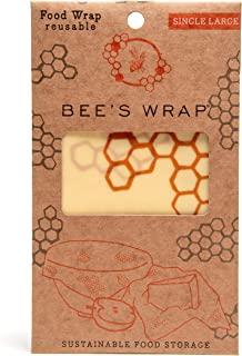 "product image for Bee's Wrap Large Single Pack, Eco Friendly Reusable Food Wraps, Sustainable Plastic Free Food Storage - 13"" x 14"""