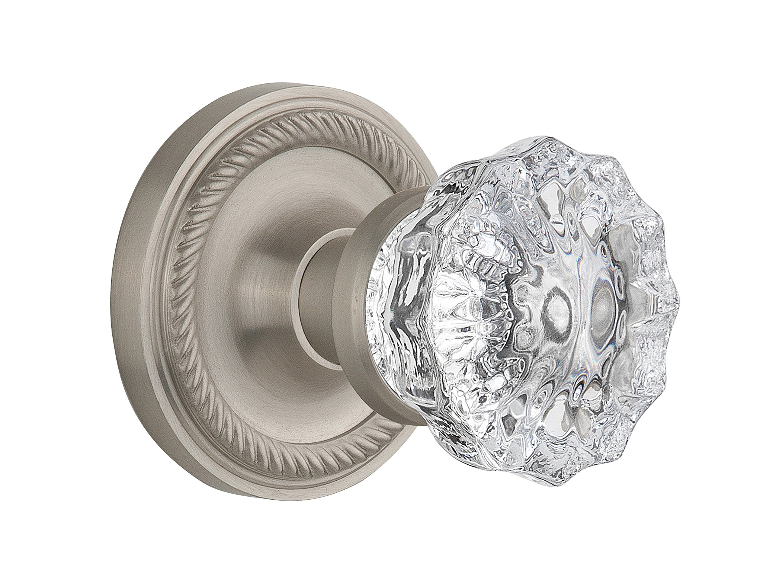 Nostalgic Warehouse Rope Rosette with Crystal Glass Knob