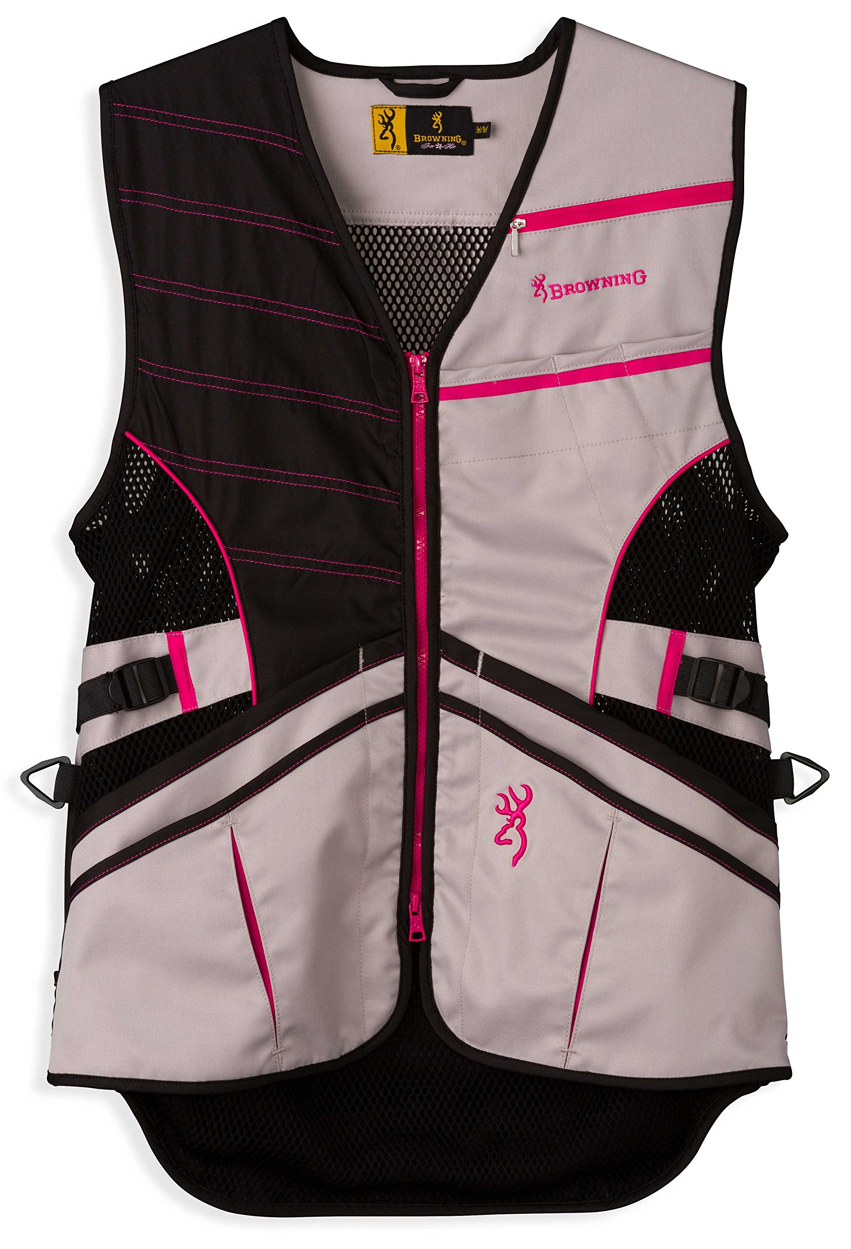 Browning Ace Shooting Vest, Hot Pink, Small