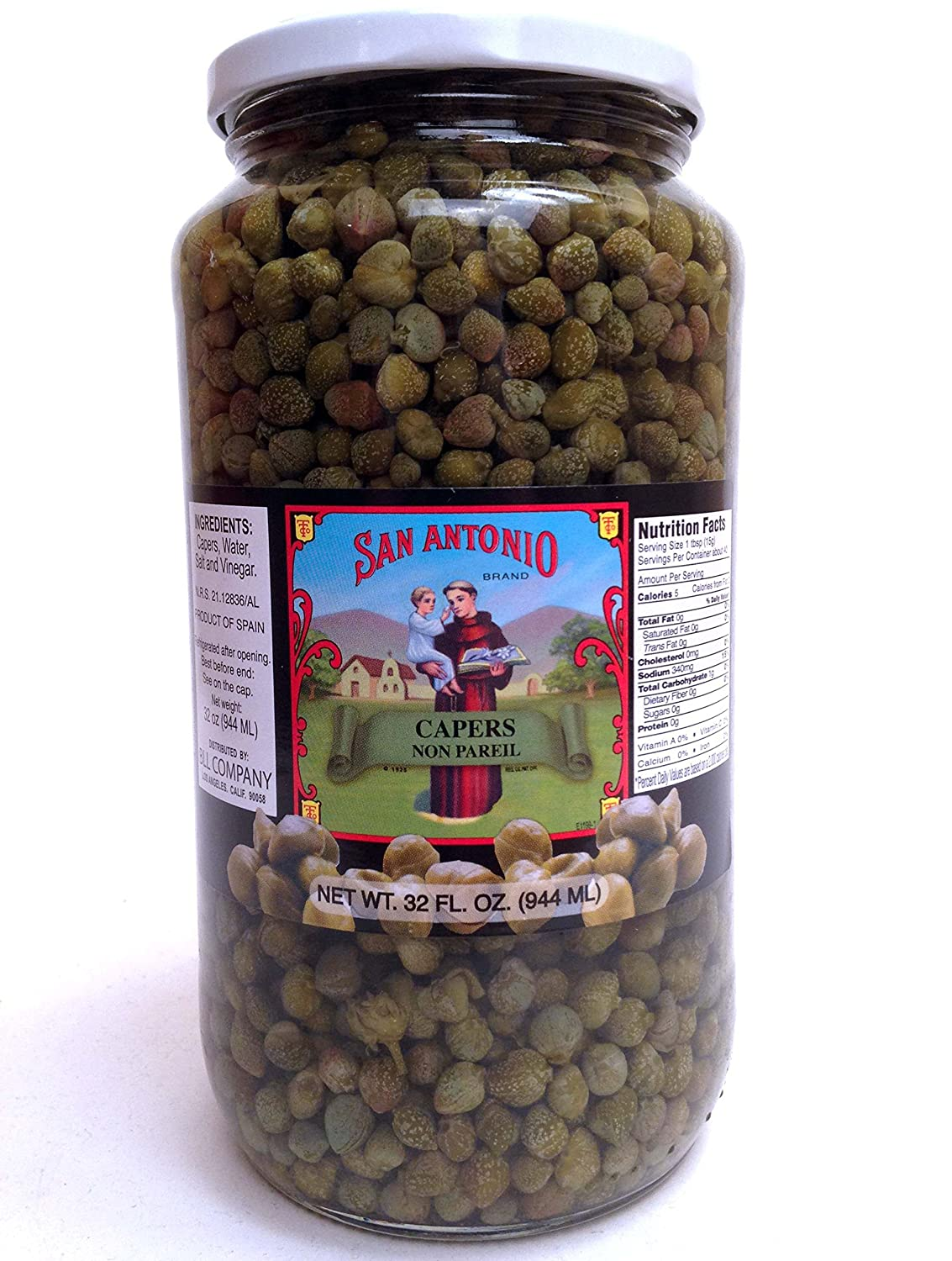 32 Oz Imported Non Pareil Capers bei Vinegar und Salt Brine
