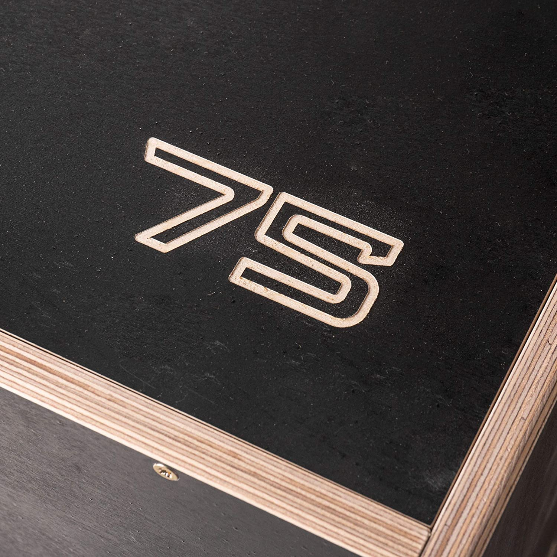 Depth Jumps 丨 Portata 200 kg 丨 Colore Nero 丨 Peso Prodotto 25 kg Calf Raises Push-ups Dips KingsBox Royal Plyo Box丨Jump Box in Legno Made in Europe 丨 Step-ups Burpee Jumps
