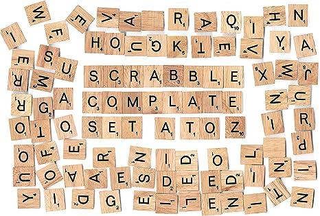 BSIRI V-WD-SCR-100_a Azulejos de Madera del Alfabeto, 5 mm: Amazon.es: Juguetes y juegos