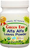 Green Era Organic Alfa Alfa Leaves Powder 100 Gms Per Bottle
