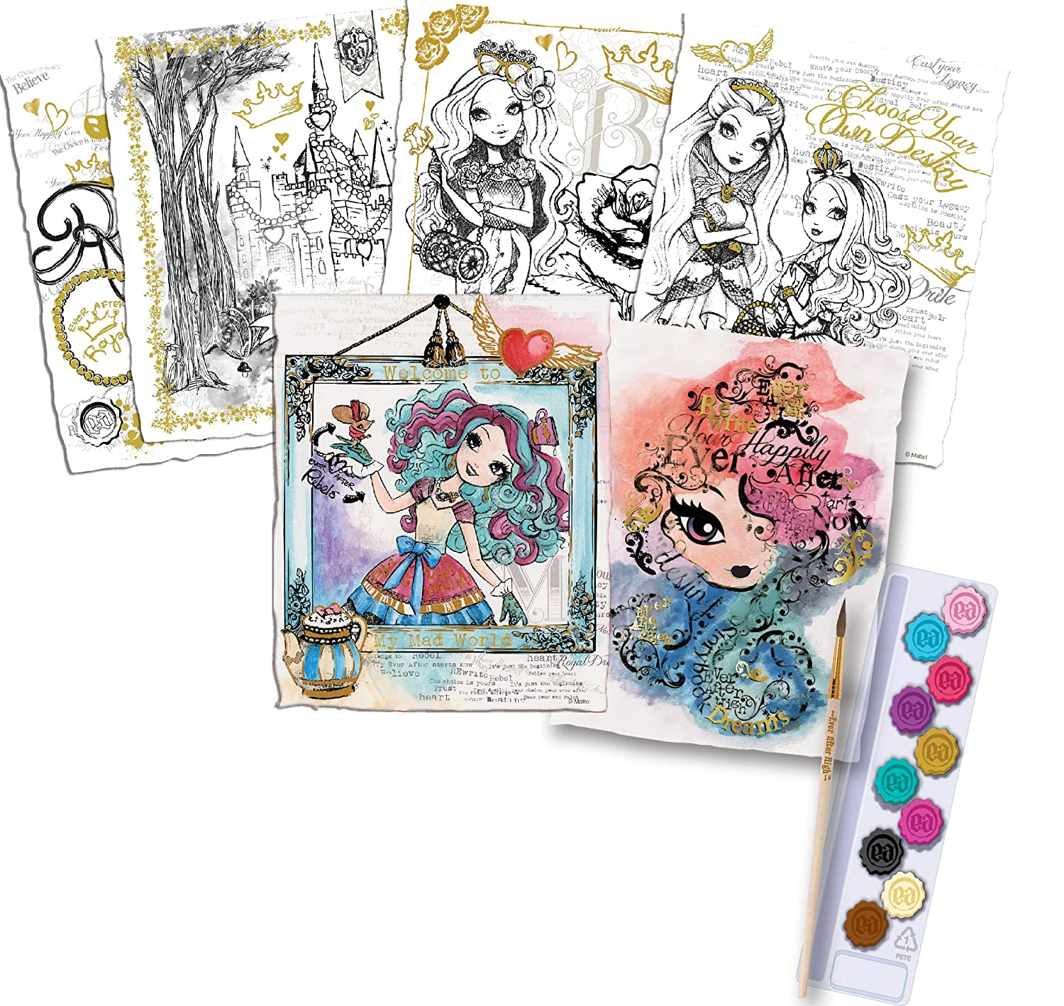 Watercolor artist magazine customer service - Amazon Com Fashion Angels Ever After High Paint Your Destiny Watercolor Artist Tote Toys Games