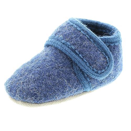 Celavi Patucos para bebé unisex de lana, 100% lana, Talla: 27/28, Color: Gris oscuro, 5712
