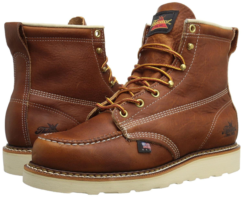 7e8cbf8261c Thorogood Mens American Heritage 6 Moc Toe, MAXwear Wedge Non-Safety ...