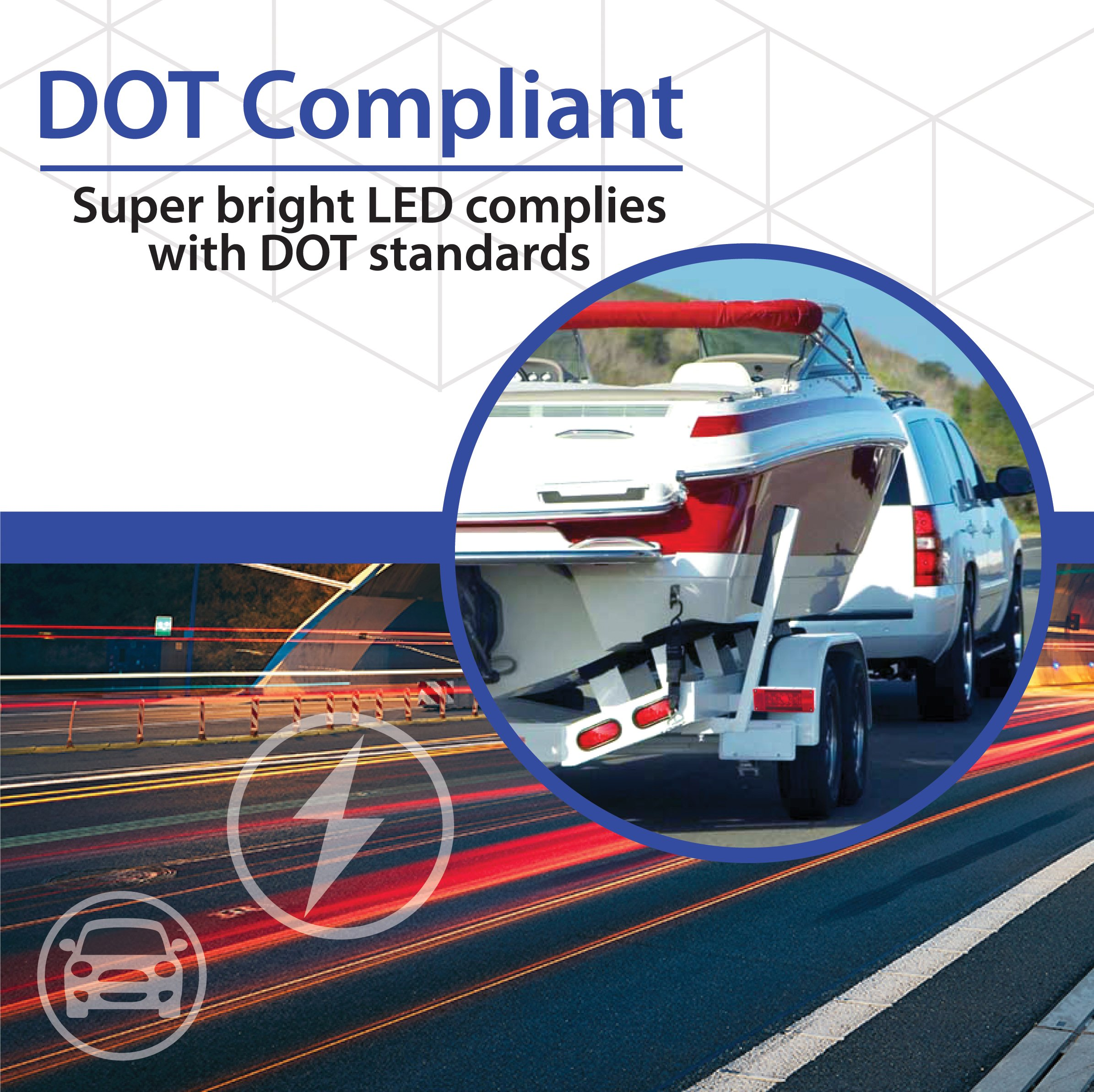 lighting boat stop indicator trailer portable tail lamps kit towing led lights sto magnetic light