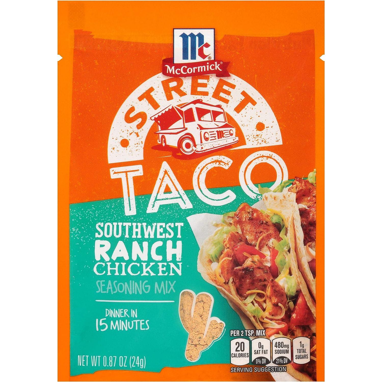 McCormick Southwest Ranch Chicken Street Taco, 0.87 oz