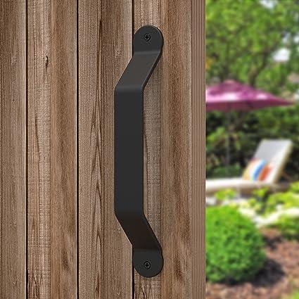 amazon com barn door handle black 8 inch solid steel gate handle