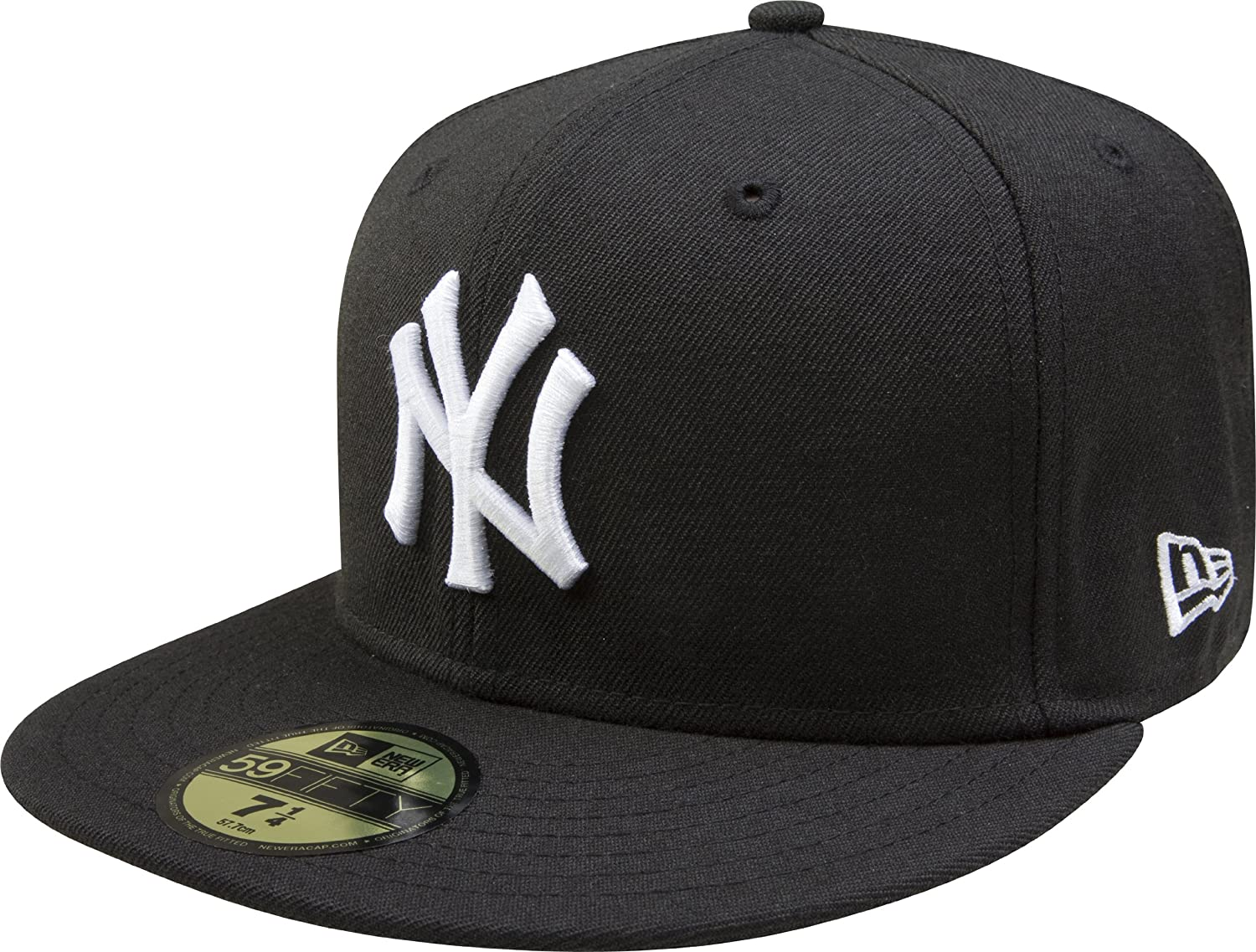 f1bee92471f Buy New Era MLB Black with White 59FIFTY Fitted Cap Online at Low Prices in  India - Amazon.in