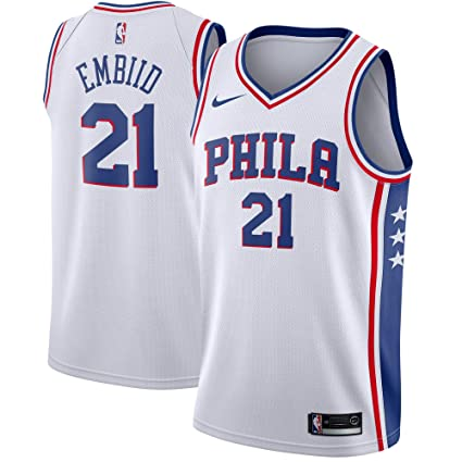 Amazon.com   NIKE Joel Embiid Philadelphia 76ers Association Edition ... c30eb1565