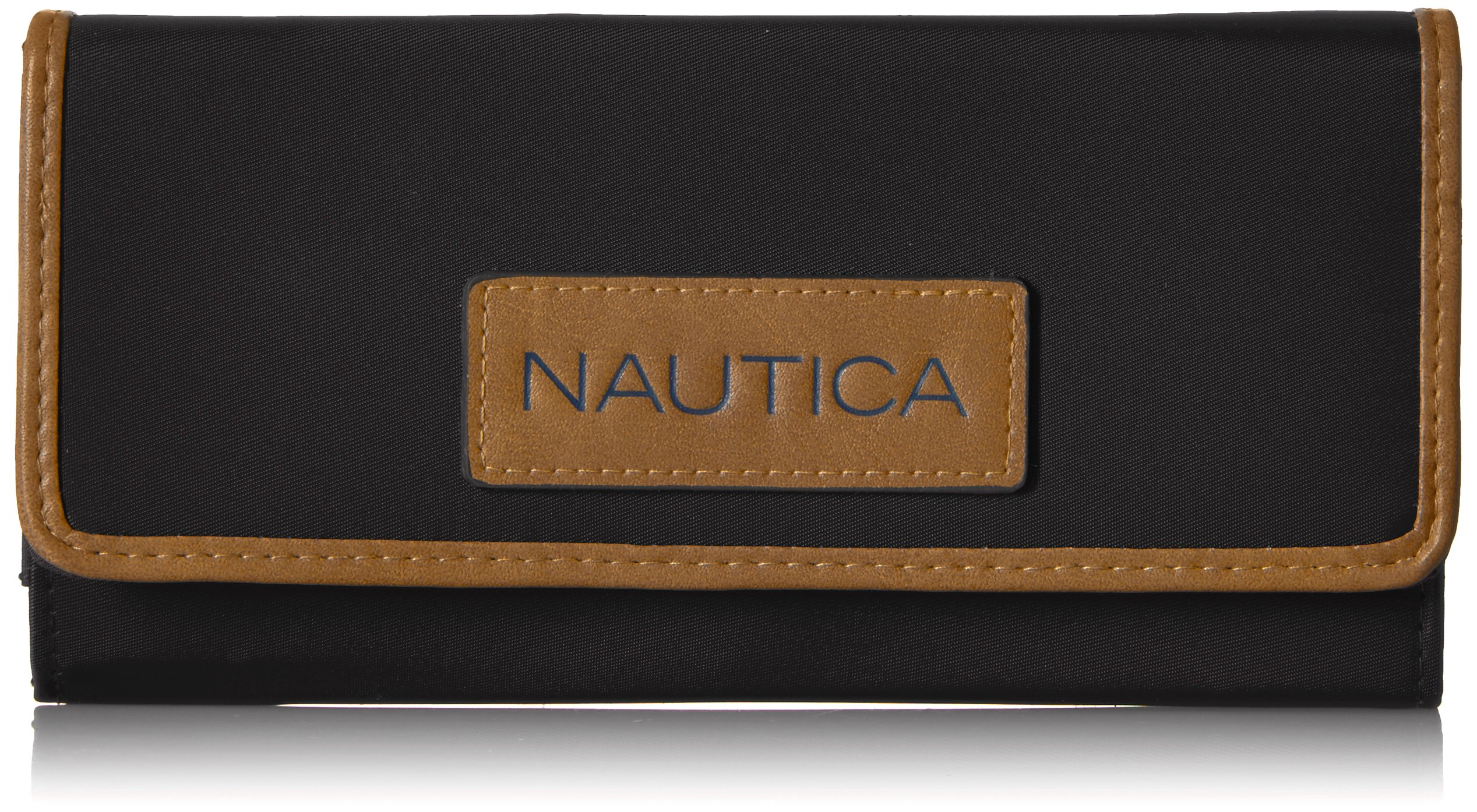 Nautica Women's Perfect Carry-All Money Manager RFID Blocking Wallet Organizer, Black